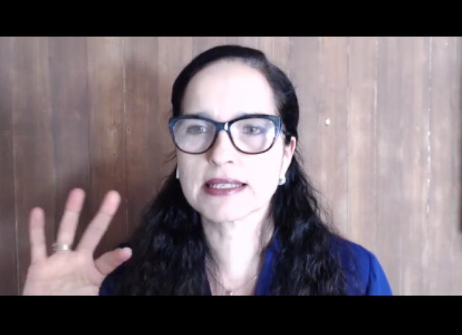 Psicanalista Paula Fontinele participou de bate-papo virtual sobre prevenção ao suicídio com colaboradores do GMNC