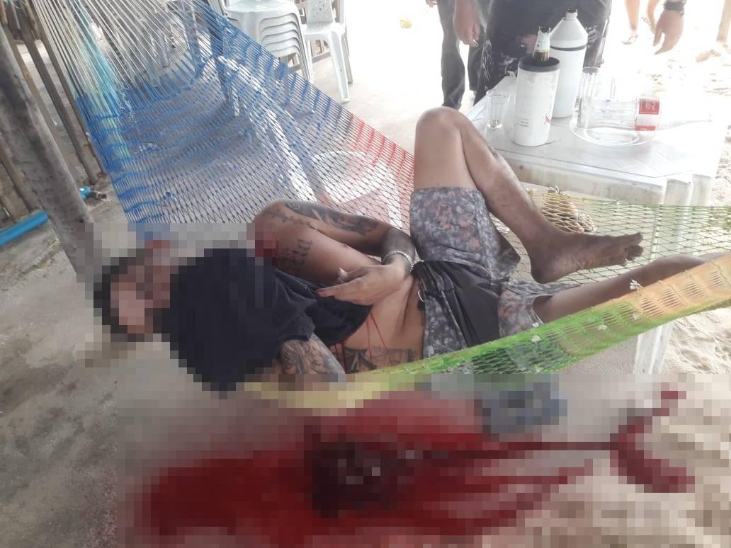 Homem é morto com diversos tiros em rede em Parnaíba (Foto: Reprodução/ WhatsApp)