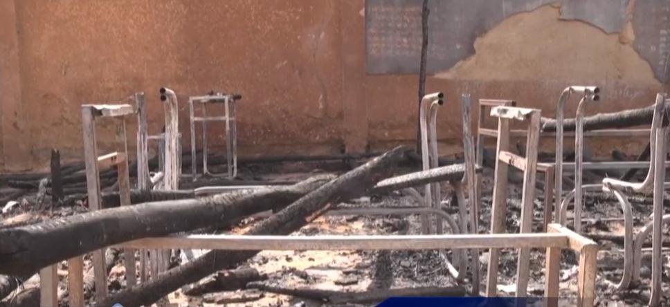 Crianças que morreram no incêndio estavam na creche da escola. Imagem: Reprodução/Rede Meio Norte