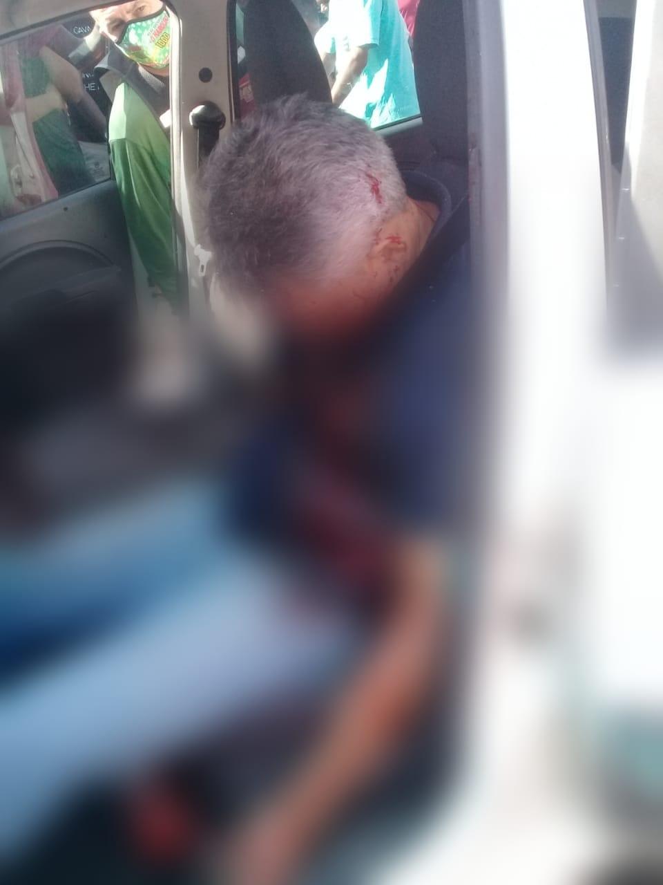 Empresário foi atingido a tiros e perdeu o controle do veículo - Foto: Reprodução