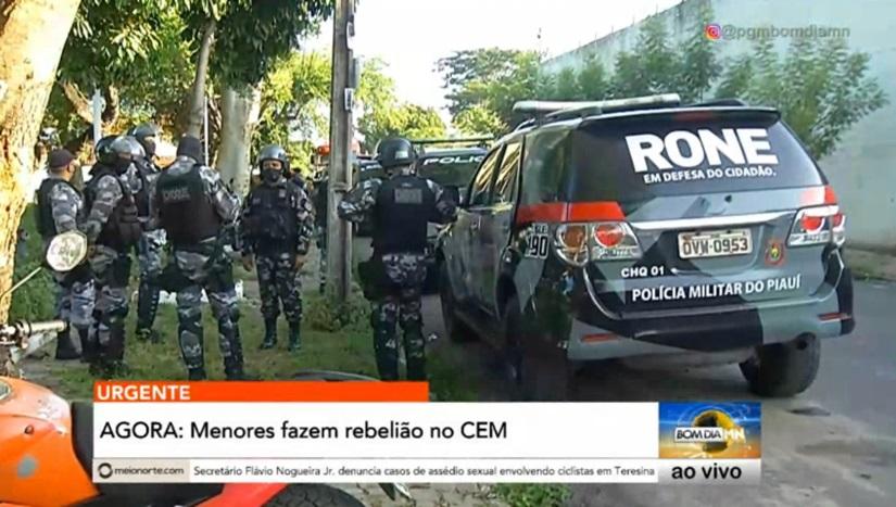 Tropa de Choque conseguiu controlar a rebelião na unidade na manhã de hoje - Foto: Bom Dia MN