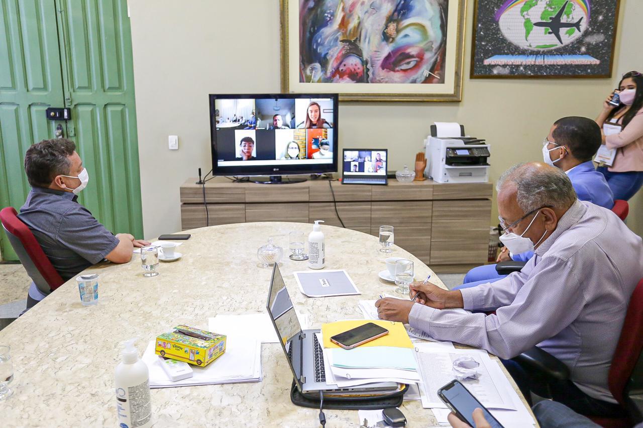 Reunião de Dr Pessoa com representantes da 99 foi virtual (Foto: CCOM)