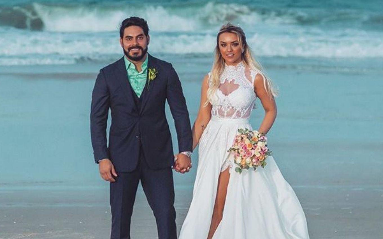 Rodolffo e Raffa Kaliman no dia do casamento