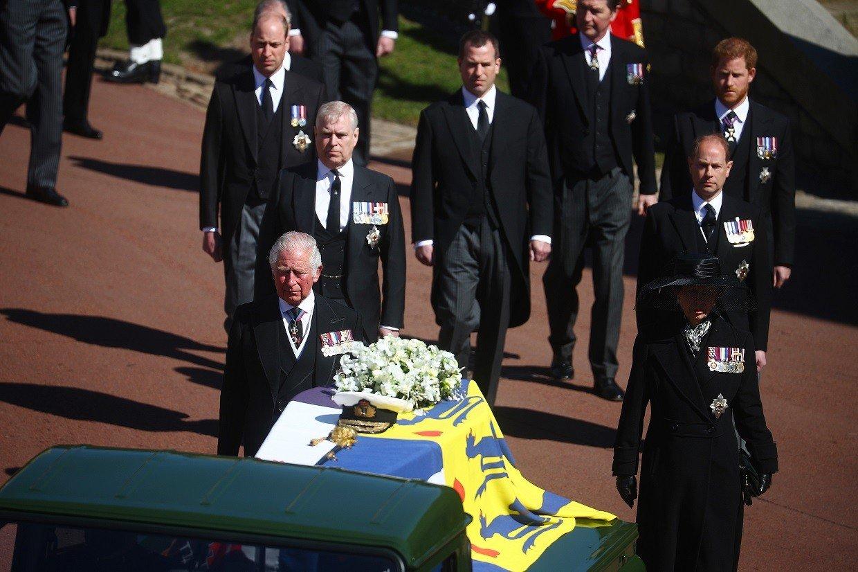 Família real no funeral do Príncipe Philip - Foto: Getty Images