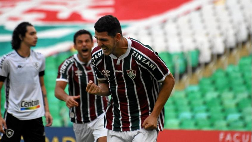 Nino comemora gol que garantiu vitória do Fluminense diante do Botafogo. (Foto: MAILSON SANTANA/FLUMINENSE FC )