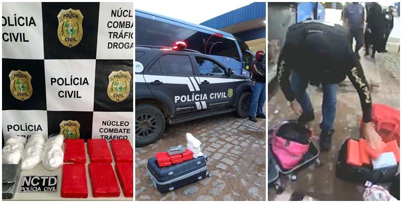 Droga apreendida pela Polícia Civil do Ceará - Foto: Divulgação