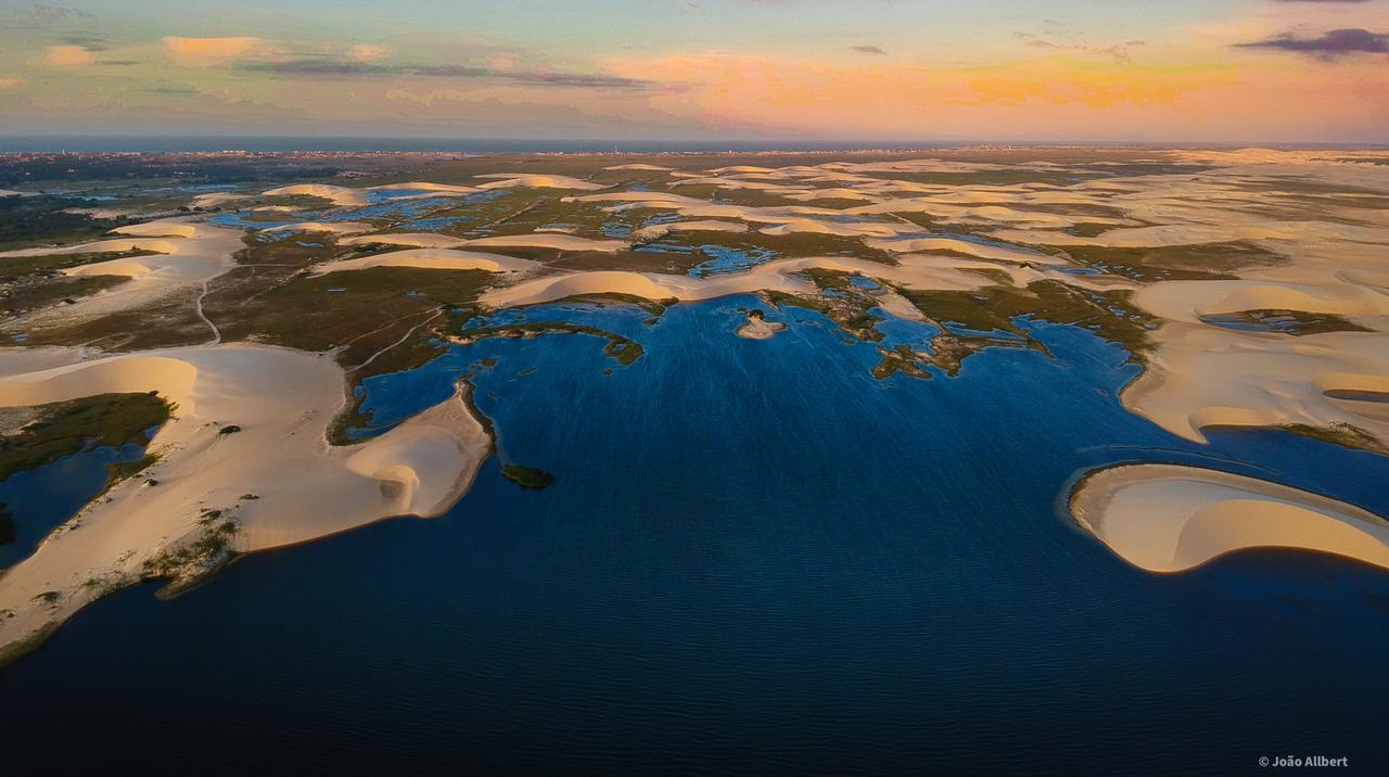 Lagoa do Portinho vista de cima pela lente do fotógrafo João Albert