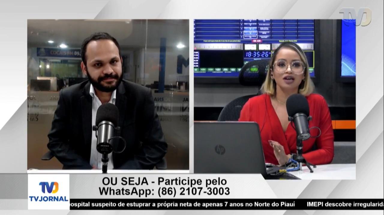 Lucas Pereira em entrevista ao Ou Seja, com Sávia Barreto (Foto: TV Jornal)
