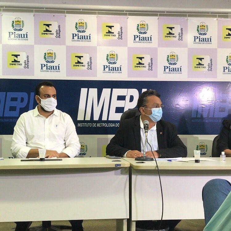 Vereador Dudu durante reunião do Imepi (Foto: Divulgação)