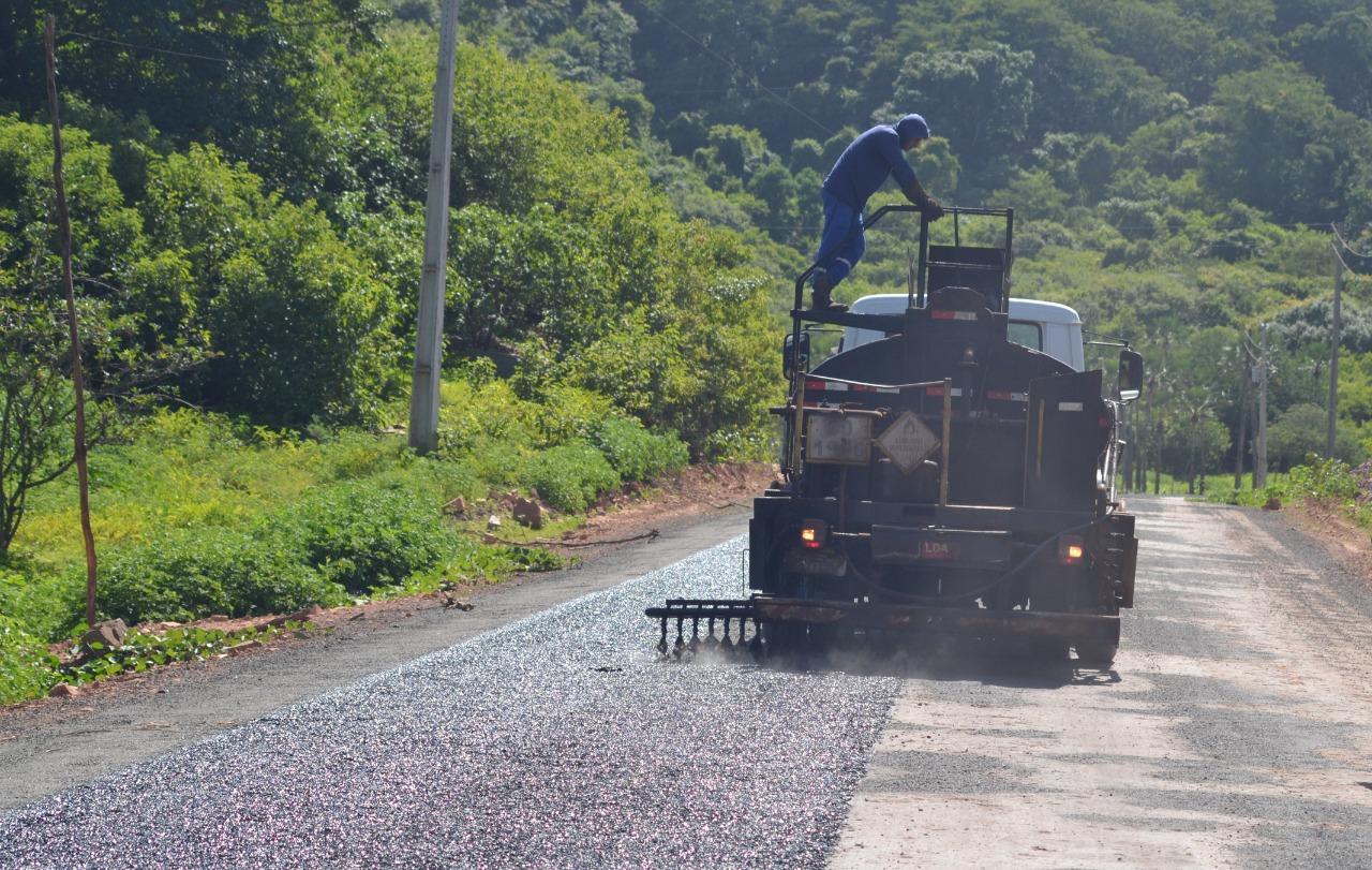 Obras do trecho da rodovia de ligação entre as cidades de Bom Princípio e Cocal