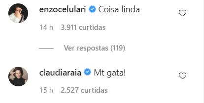 Claudia Raia elogia a nora (Foto: captura de tela)