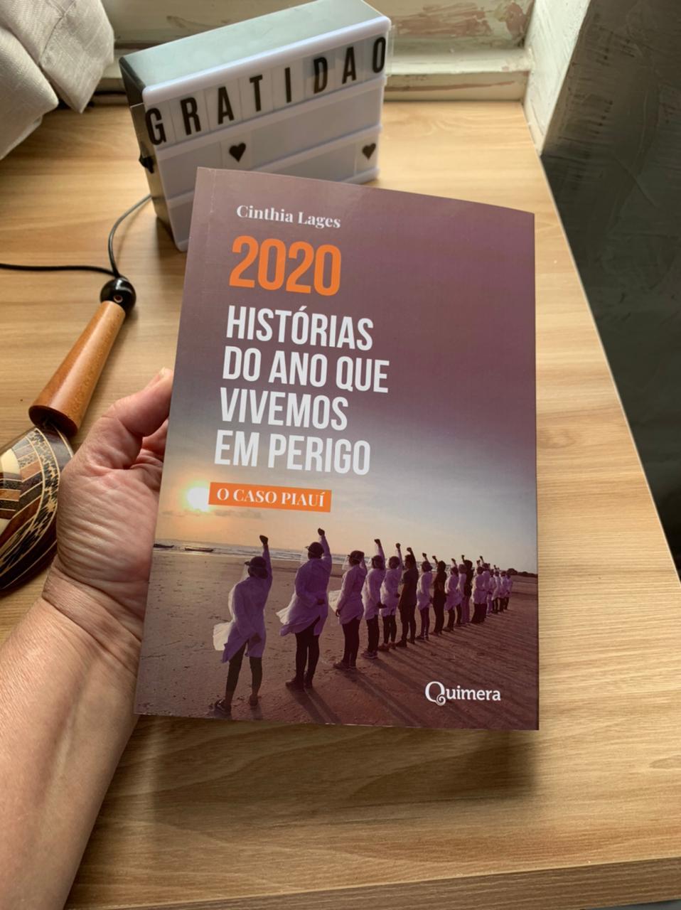 Livro de Cinthia Lages registra histórias da pandemia