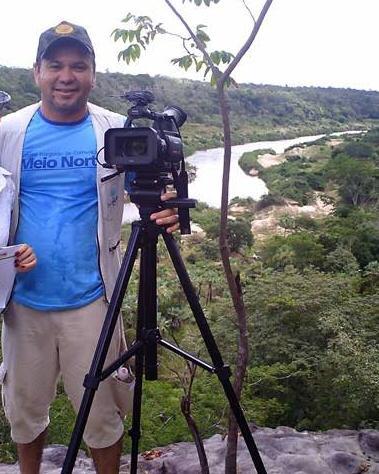 César Piauilino quando era cinegrafista da Rede Meio Norte