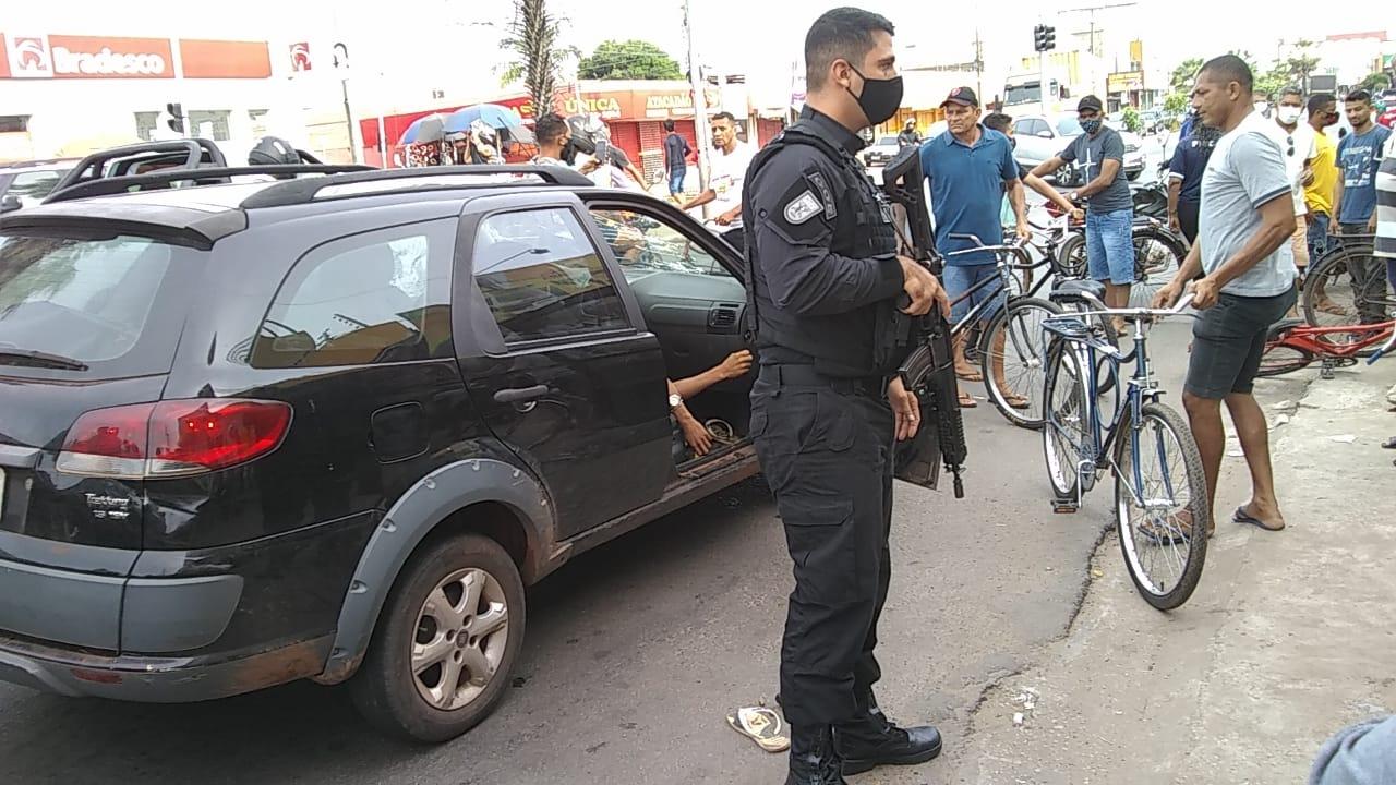 Assaltantes foram mortos em troca de tiros com a Polícia em Timon (Foto: Ivan Lima/ Portal Meio Norte)