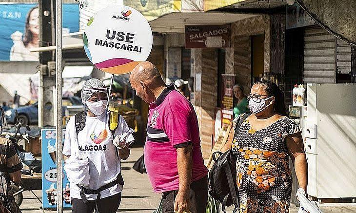 Multa por não usar máscara será de R$505,98   FOTO: Agência Brasil