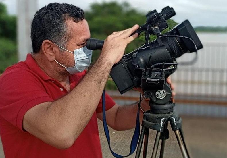 Cinegrafista Cesár Piauilino - Foto: Arquivo Pessoal