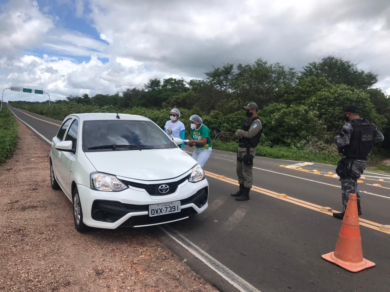 Busca ativa em cidades do litoral do Piauí (Foto: Divulgação)