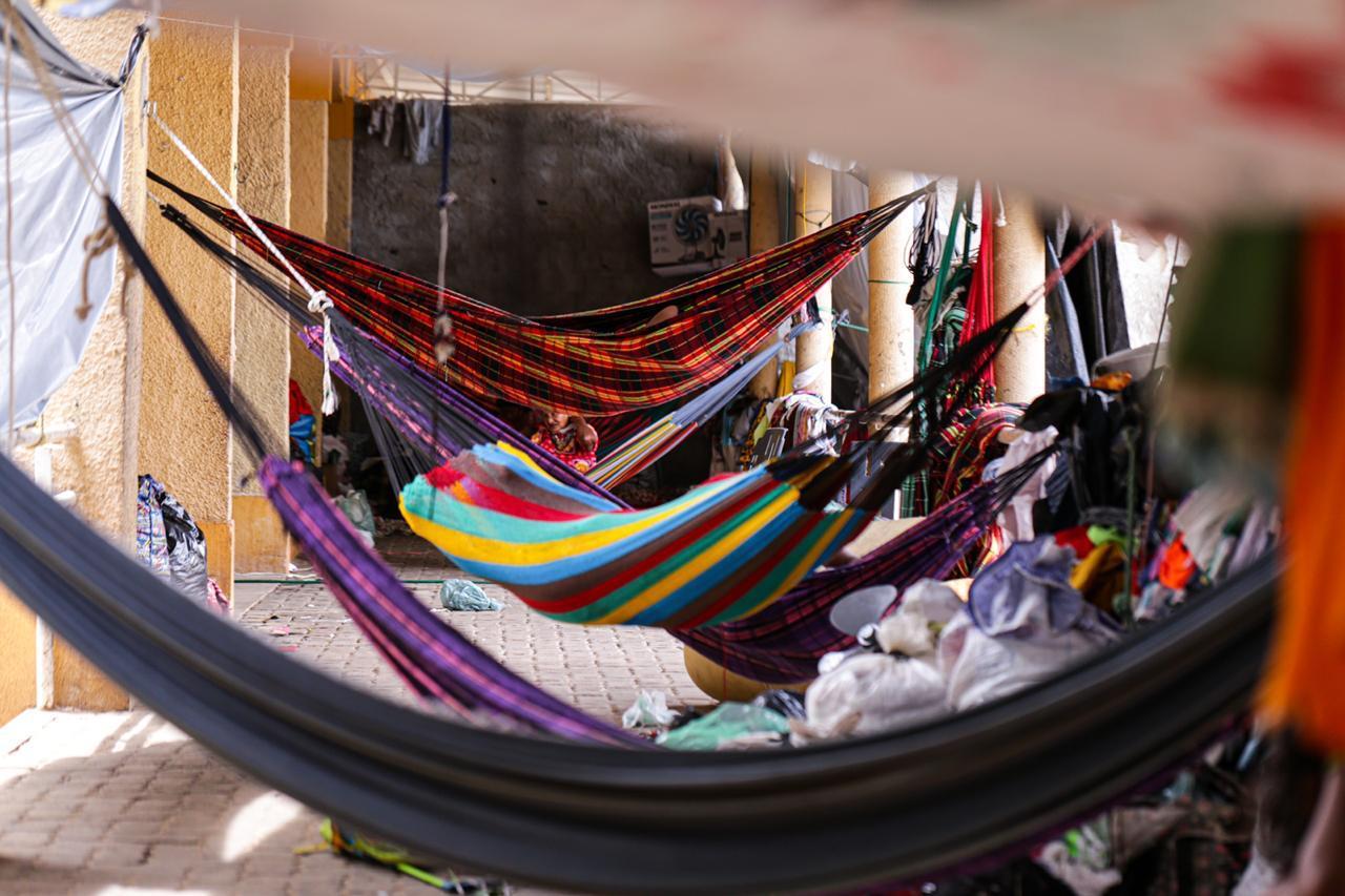 Abrigo destinado ao povo venezuelano em Teresina (Foto: Rômulo Piauilino)