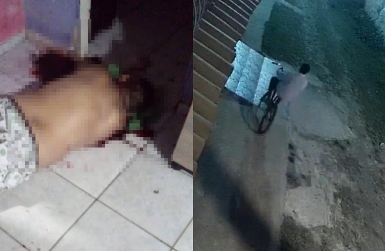 Vítima foi assassinada na sala da própria casa em Luís Correia, no litoral do Piauí (Foto: Montagem/ Portal Meio Norte)