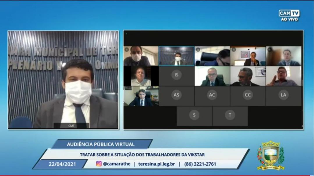 Audiência pública na Câmara de Teresina discutiu a situação dos funcionários demitidos (Foto: Divulgação)