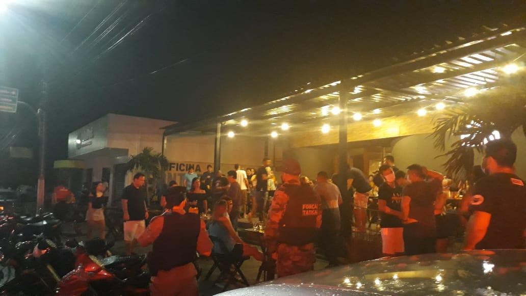 Bar fechado em Parnaíba - Foto: Divulgação