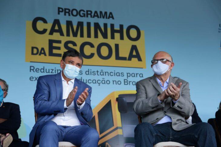 Wellington Dias e o Ministro da Educação (Foto: Ccom)