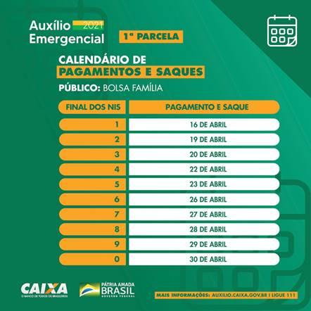 Confira calendário para receber Auxílio Emergencial (Foto: Divulgação)