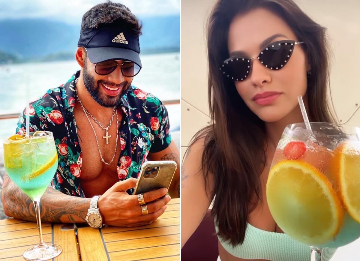 os drinks que eles estavam bebendo chamou bastante a atenção dos fãs do casal
