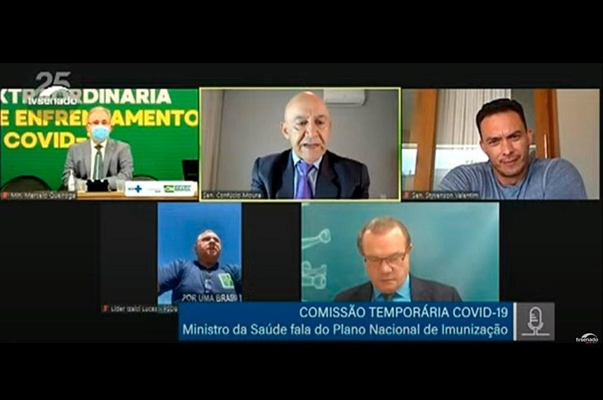 Ministro Marcelo Queiroga participa de audiência pública