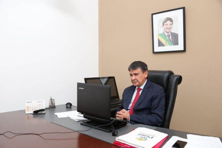 O governador Wellington Dias reagiu à rejeição da Sputnik pela Anvisa (Foto: Regis Falcão)