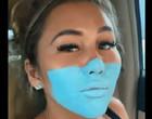 Mulher é presa após pintar rosto com molde de máscara para Covid