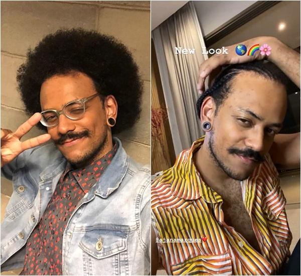 João Luiz antes e depois de mudar o visual - Foto: Reprodução