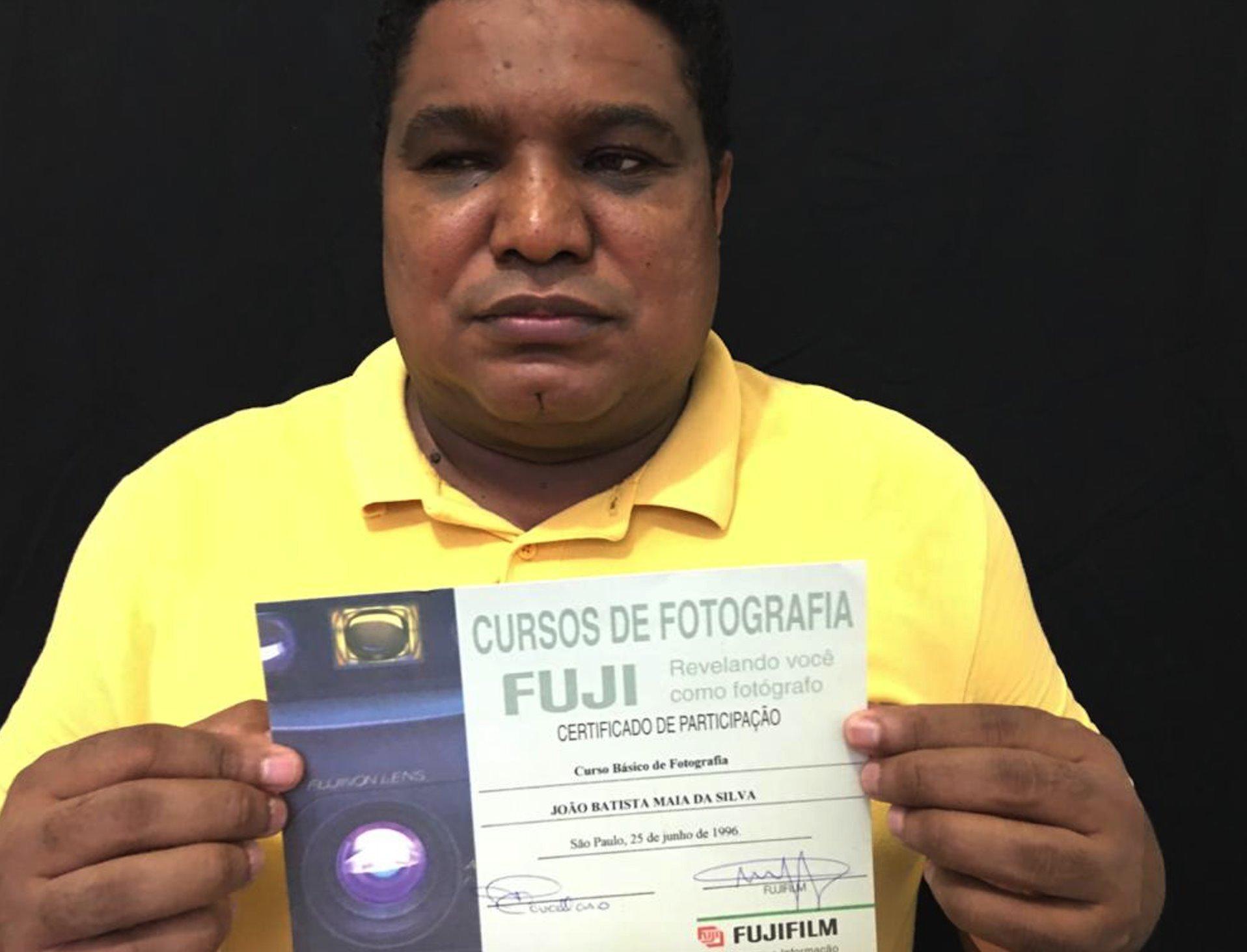 O piauiense já havia feito cursos de fotografia antes de perder a visão ((Foto: Arquivo Pessoal)