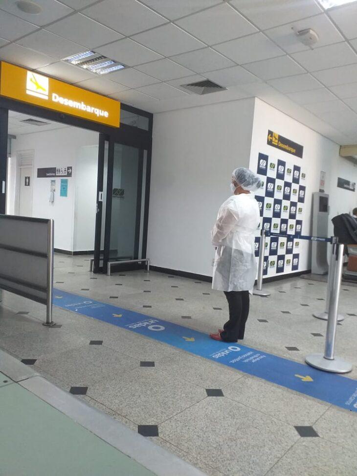 Ação se difunde até no aeroporto (Foto: Ascom SESAPI)