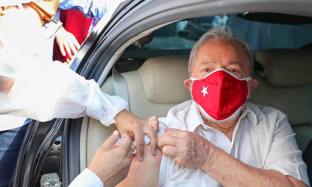 Lula recebeu a segunda dose em São Bernardo do Campo (Foto: Ricardo Stuckert)