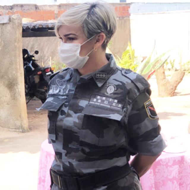 Major Elizete atua na linha de frente. Crédito: divulgação.