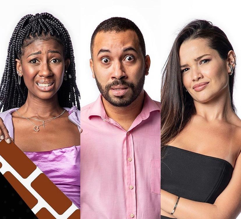 Camilla, Gilberto e Juliette formam o último paredão do BBB 21