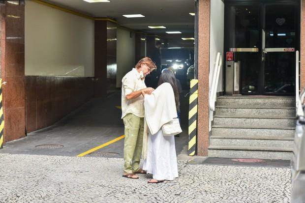 Fabio Assunção e Ana Verena com Alana (Foto: Marcelo Sá Barreto/AgNews)
