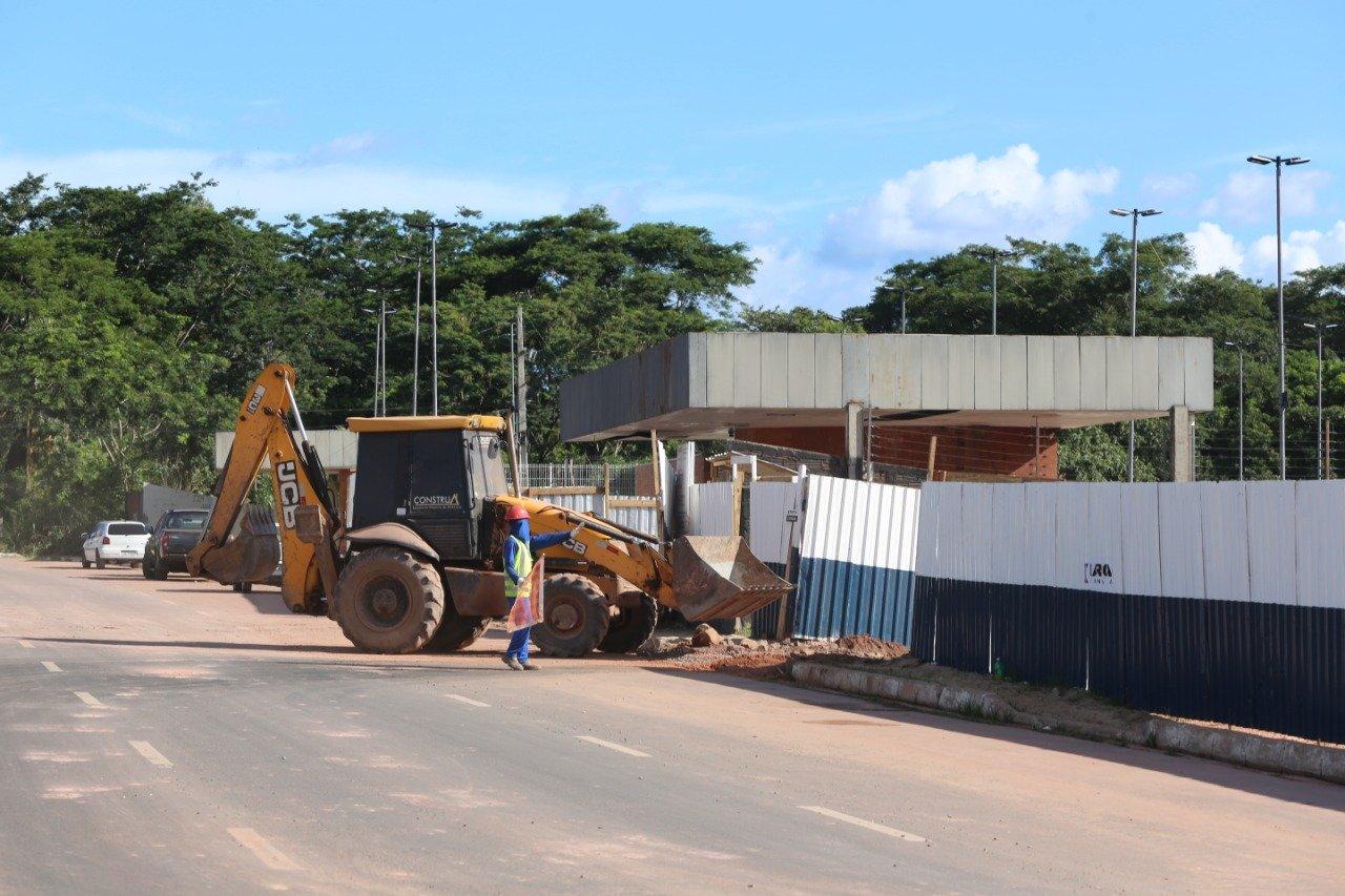 Obras do supermercado Assai, na avenida Raul Lopes, em Teresina ( foto: Efrem Ribeiro)