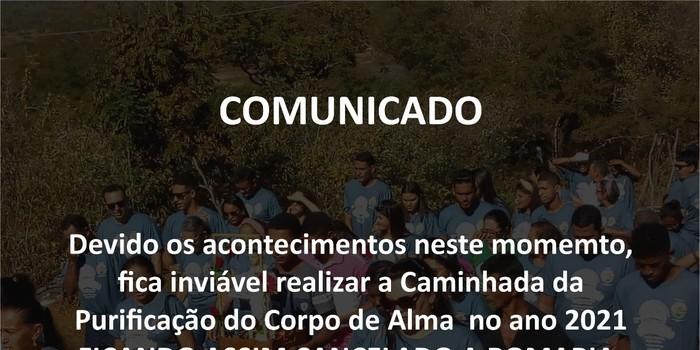 Caminhada de Monsenhor Gil para Santa Cruz é cancelada
