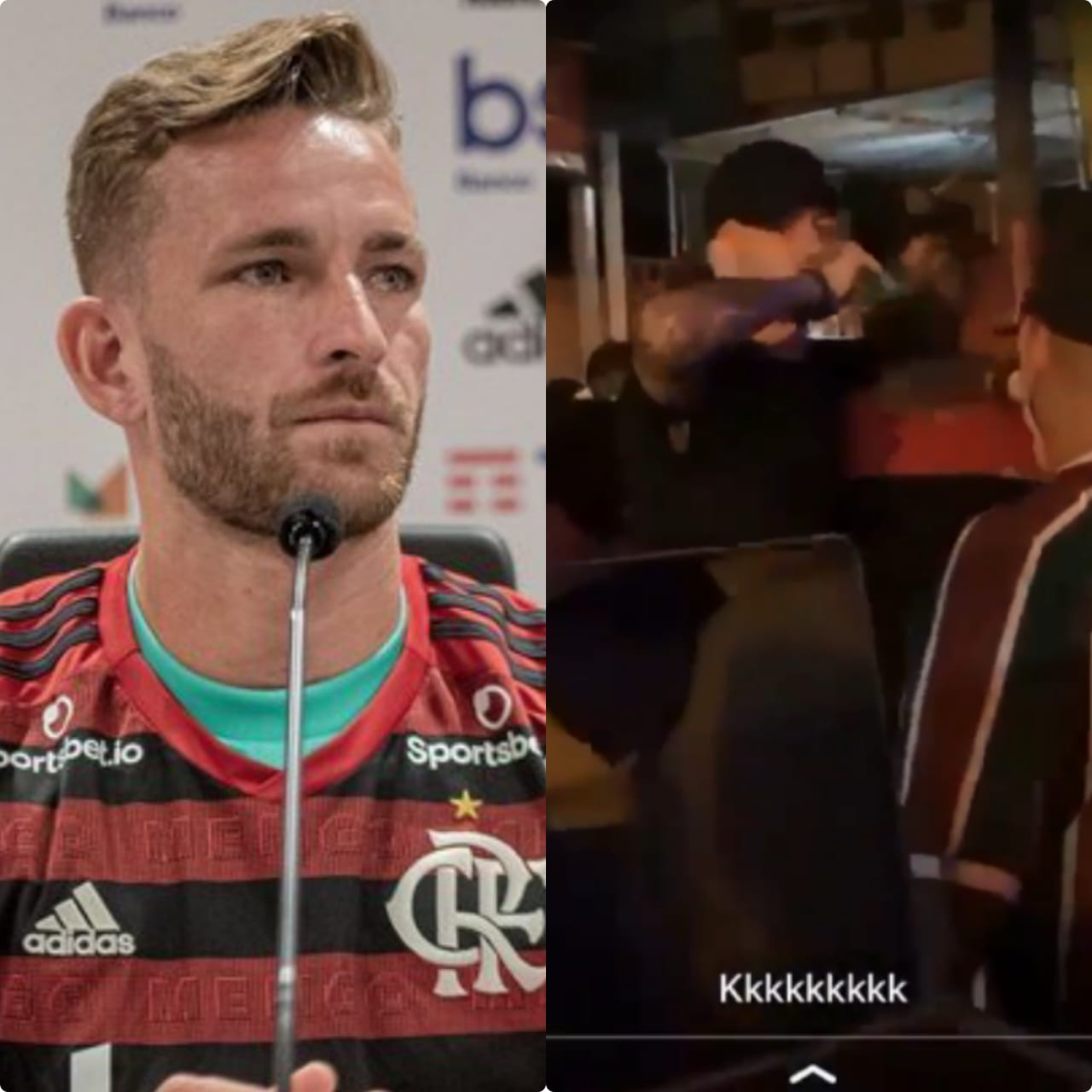 O zagueiro Léo Pereira, doFlamengo, faltou à reapresentação mas foi visto em festa- Foto: Reprodução/Instagram