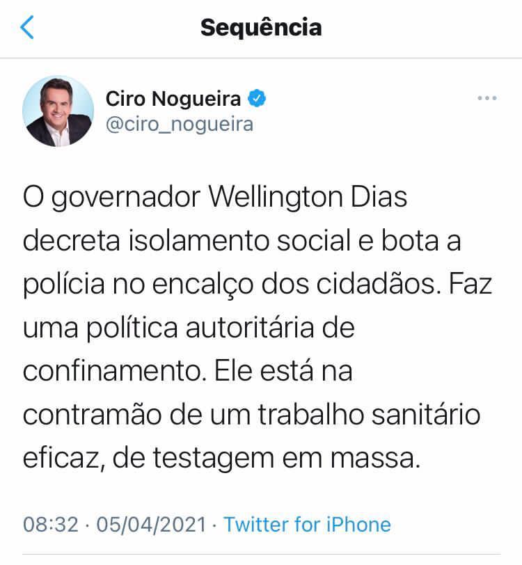 """Ciro critica decreto de WD: """"dinheiro para comprar testes existe"""" - Imagem 1"""