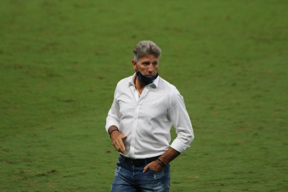 Renato Gaúcho é colocado em isolamento após testar positivo para a Covid-19 - Foto: Lucas Uebel/Grêmio