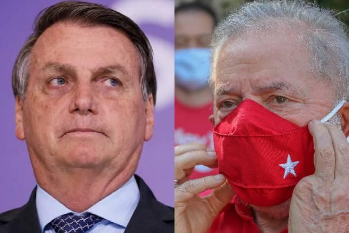 Lula e Bolsonaro aparecem empatados tecnicamente (Foto: Ricardo Stuckert /Divulgação)