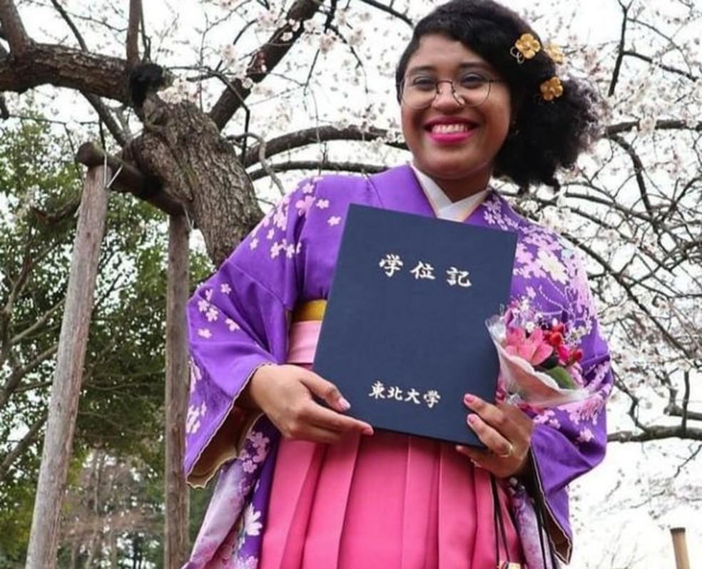 Mariana Melo é brasileira, mas mora no Japão (Foto: Arquivo pessoal)