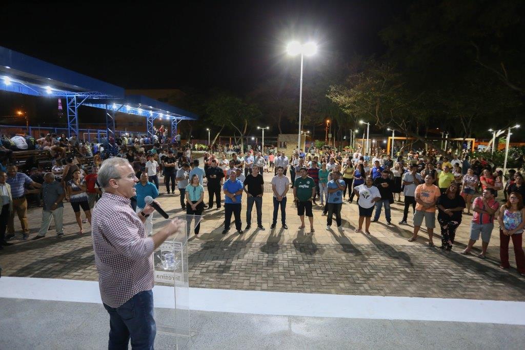 Firmino inaugurou Parque Ambiental da Macaúba em 2019 (Foto: Ascom/PMT)