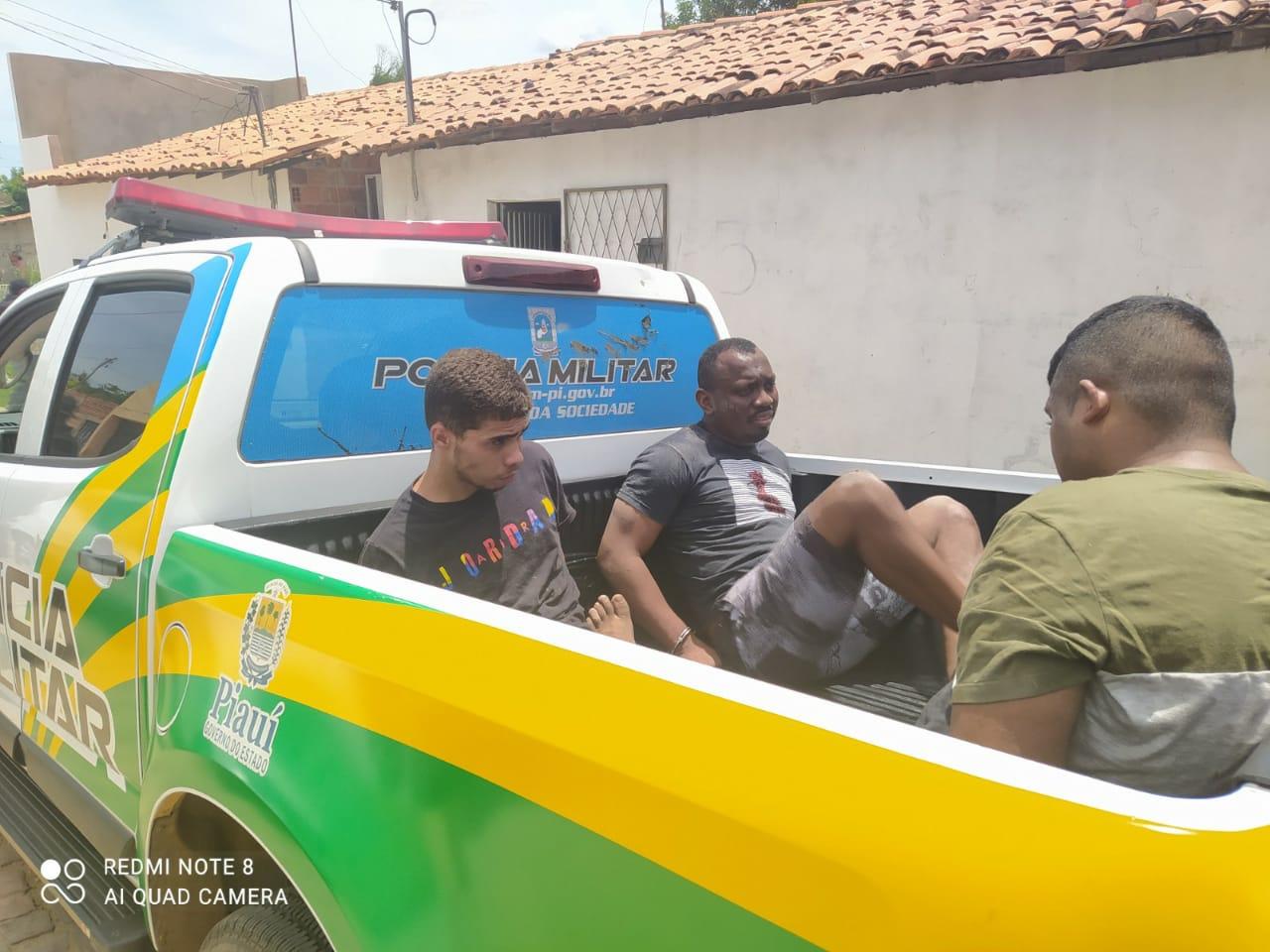 Três criminosos foram presos acusados do arrastão a Lojas Americanas (Foto: Reprodução/ WhatsApp)