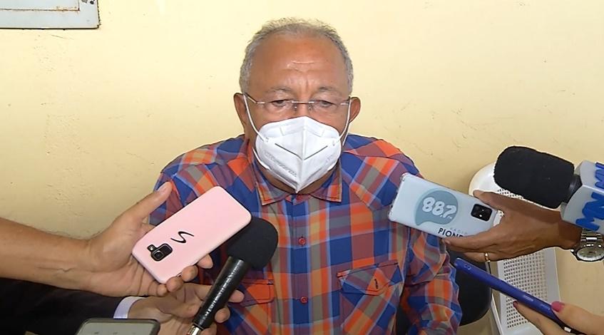 Prefeito admite pausa na campanha de imunização, mas culpa o governo federal. Foto: Reprodução/Rede Meio Norte