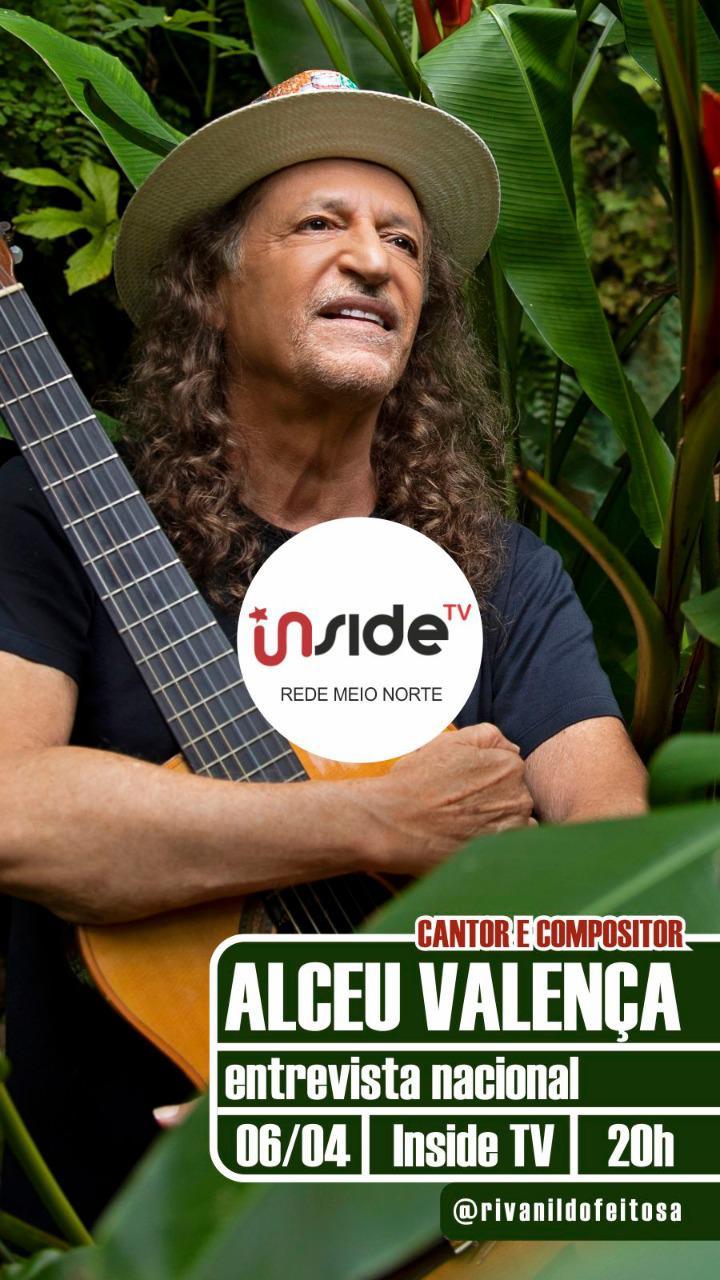 Alceu Valença vai conceder entrevista para o jornalista Rivanildo Feitosa na Rede MN