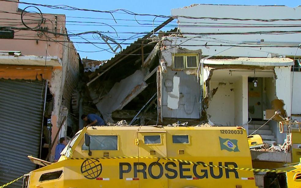 Transportadora de valores em Ribeirão Preto, destruída após ataque dos bandidos | Paulo Souza_EPTV_Arquivo